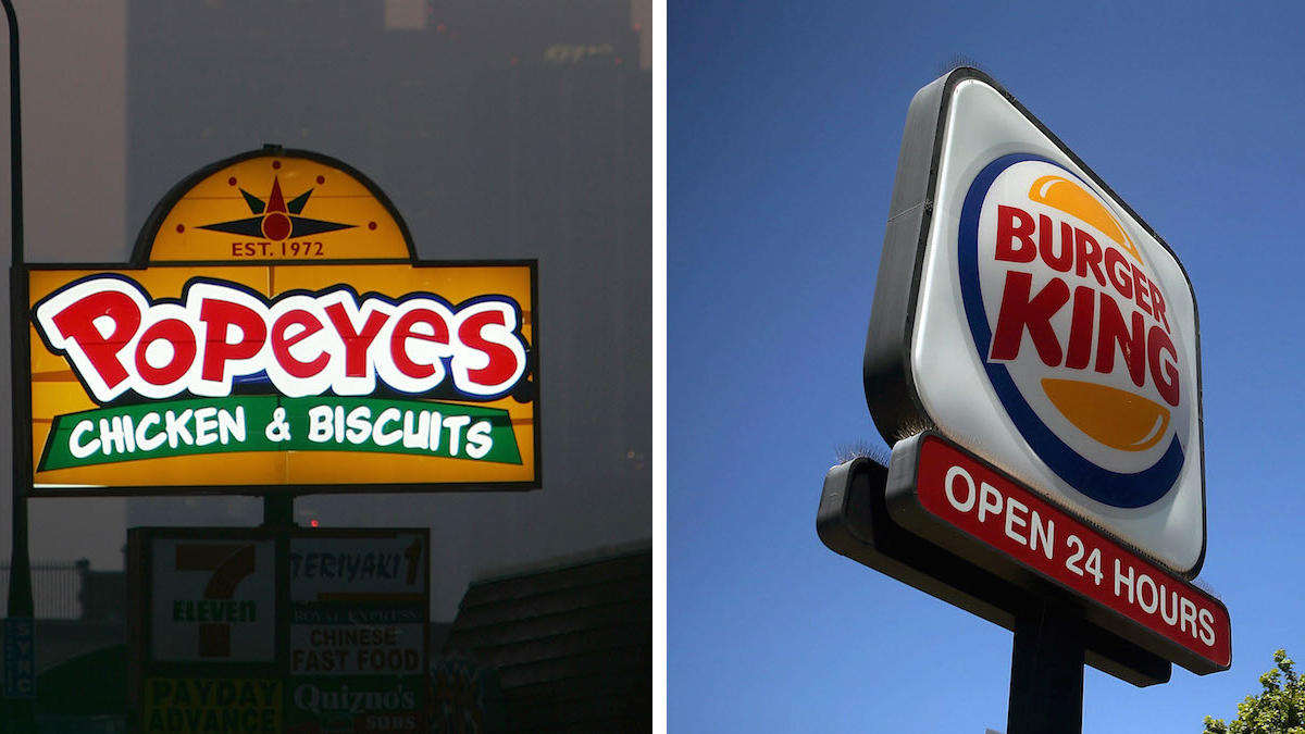 Burger King owner to buy Popeyes for 1.8 Billion dollars..